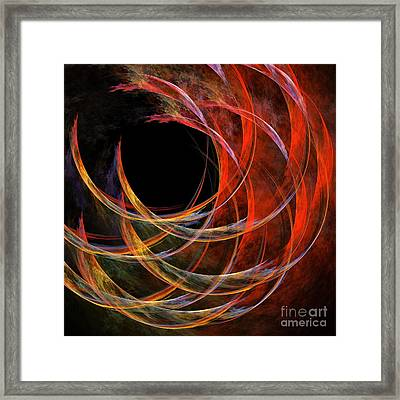 Breaking The Circle Framed Print by Oni H