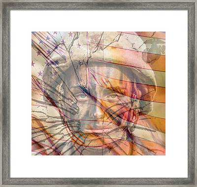 Breaking The Glass Ceiling Framed Print by Mary Ward