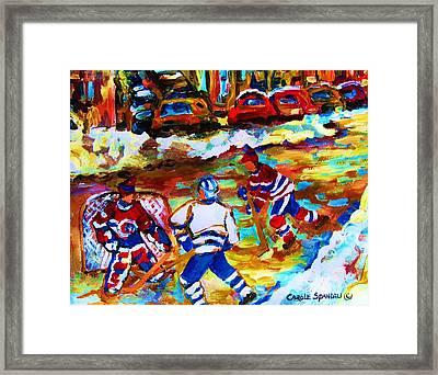 Breaking  The Ice Framed Print by Carole Spandau
