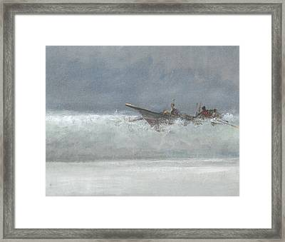 Breaking The Surf  Sri Lanka Framed Print