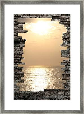 Breaking The Wall Framed Print