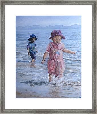 Breaking The Waves Framed Print by Victoria Heryet