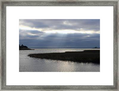 Framed Print featuring the photograph Breaking Through by Rick McKinney