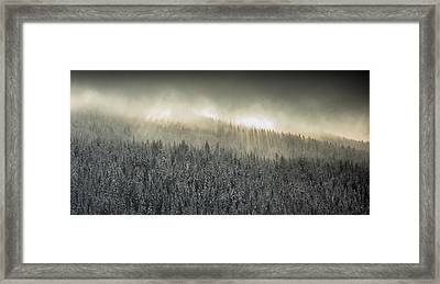 Breaking Through The Darkness Framed Print by Joy McAdams