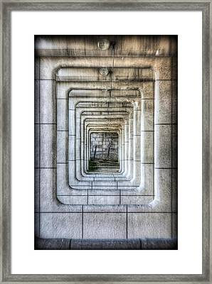 Breaking Through The Forth Wall Framed Print by David LaSpina
