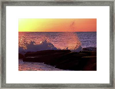 Breaking Wave At Dawn Framed Print