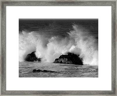 Breaking Wave At Pacific Grove Framed Print