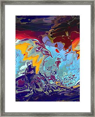 Breaking Waves Framed Print