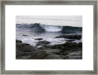 Framed Print featuring the photograph Breaking Waves by Carol  Bradley