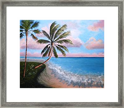 Breaking Waves  Framed Print by Francis Roberts ll