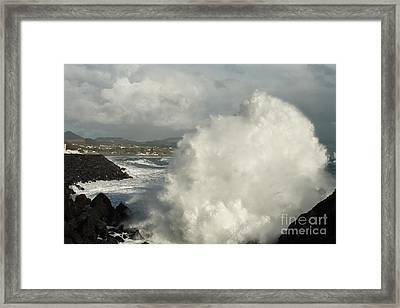Breaking Waves Framed Print by Gaspar Avila