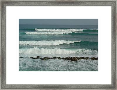 Breaking Waves Puerto Rico Framed Print by Patty Vicknair