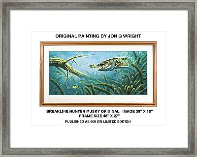 Breakline Hunter Musky Framed Print by Jon Q Wright