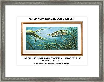 Breakline Hunter Musky Framed Print by JQ Licensing