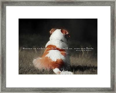 Breaktime Quote Framed Print by JAMART Photography