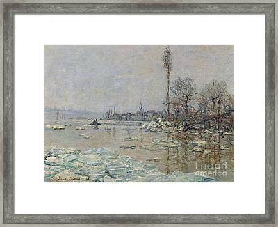 Breakup Of Ice Framed Print by Claude Monet
