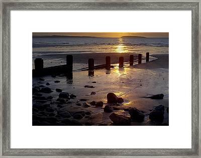 Breakwater At Penmaenmawr Framed Print
