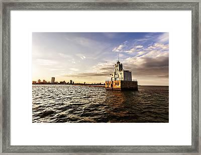 Breakwater Lighthouse Framed Print by CJ Schmit