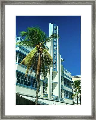 Breakwater Miami Beach Framed Print