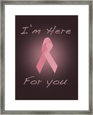 Breast Cancer Framed Print by Jim  Hatch