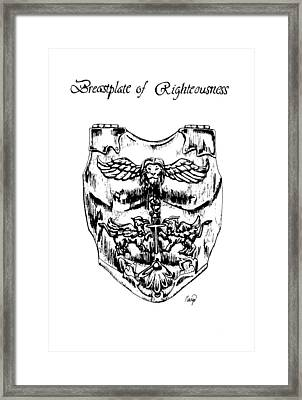 Breastplate Of Righteousness Framed Print by Maryn Crawford