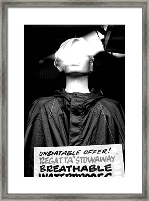 Breathable Framed Print by Jez C Self