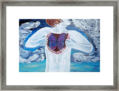 Framed Print featuring the painting Breathe Deep by Lisa Brandel