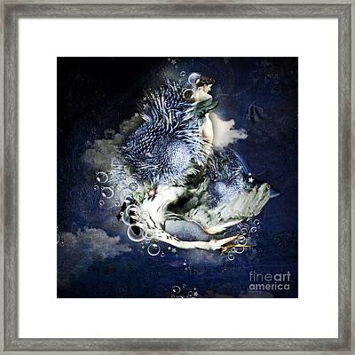 Breathe Framed Print by Monique Hierck