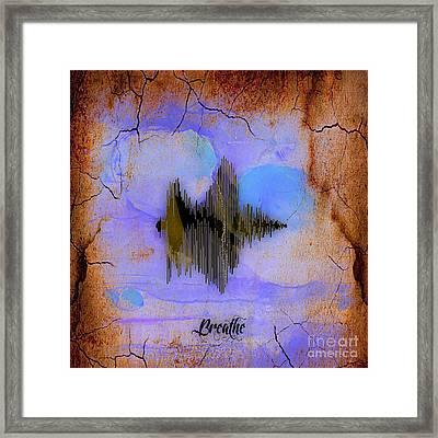 Breathe Spoken Soundwave Framed Print