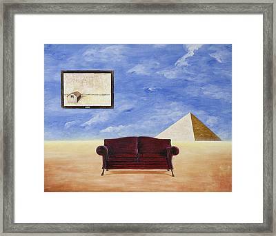 Relaxng In The Desert Framed Print by Mladjan Stefanovic