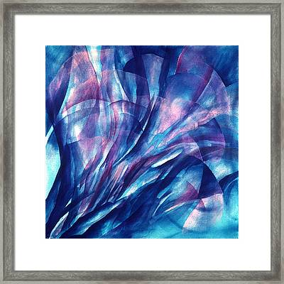 Breathing Blue Framed Print by Sue Reed