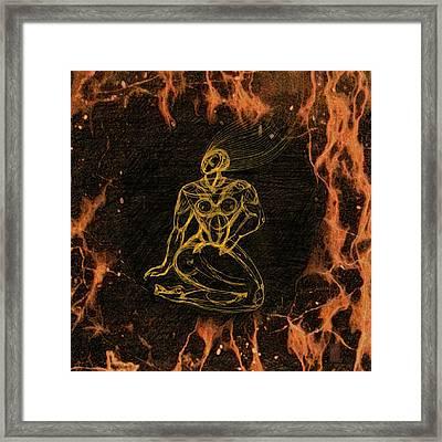 Breathing In Fire Framed Print by Inga Vereshchagina