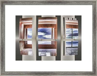 Breathing Space - Silver, Optimized For Metallic Paper Framed Print by Wendy J St Christopher