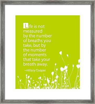 Breathless Framed Print by Cindy Greenbean