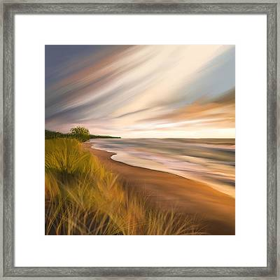 Breathtaking Beach Framed Print