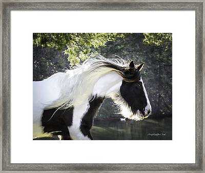 Breathtaking Girl Framed Print