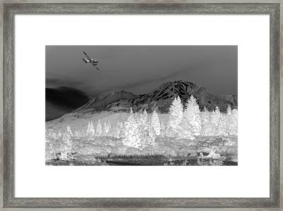Breathtaking In Black And White Framed Print by Joyce Dickens