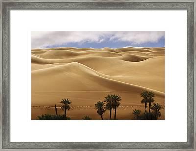 Breathtaking Sand Dunes Framed Print