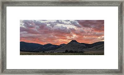 Breathtaking Sunset Framed Print