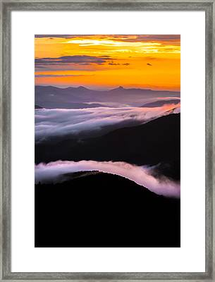 Breatthtaking Blue Ridge Sunrise Framed Print