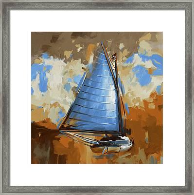 Breck Marshall Catboat 287 3 Framed Print