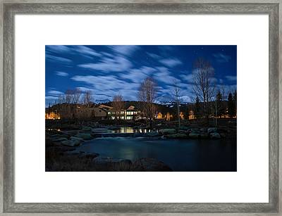 Breckenridge Blue River Night Framed Print by Michael J Bauer