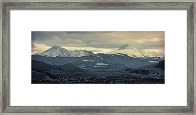 Breckenridge Colorado Cool Blue Framed Print