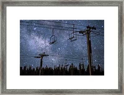 Breckenridge Milky Way Framed Print by Michael J Bauer