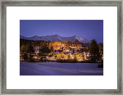Breckenridge Nordic Night  Framed Print