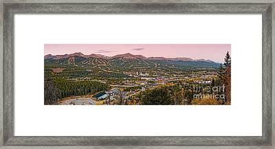 Breckenridge Panorama At Twilight - Fall Season Rocky Mountains Colorado Framed Print by Silvio Ligutti