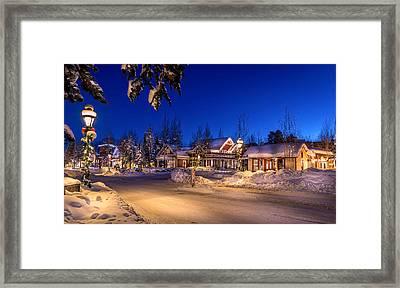 Breckenridge Winter Morning Framed Print