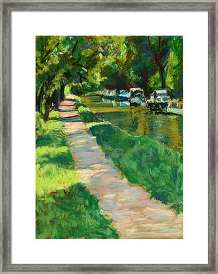 Brecon And Monmouth Canal At Goytre Wharf Framed Print by Judy Adamson