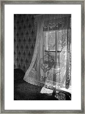 Breeze - Black And White Framed Print by Nikolyn McDonald