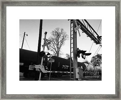 Breeze Black And White Framed Print
